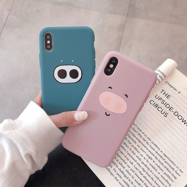 Simple Pig Nose iPhone Cases For Couples In TPU