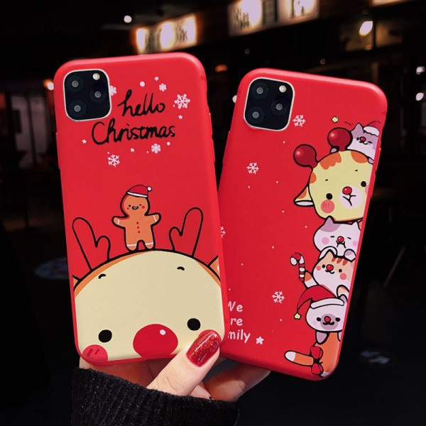 Red Christmas iPhone Cases For Couples In TPU