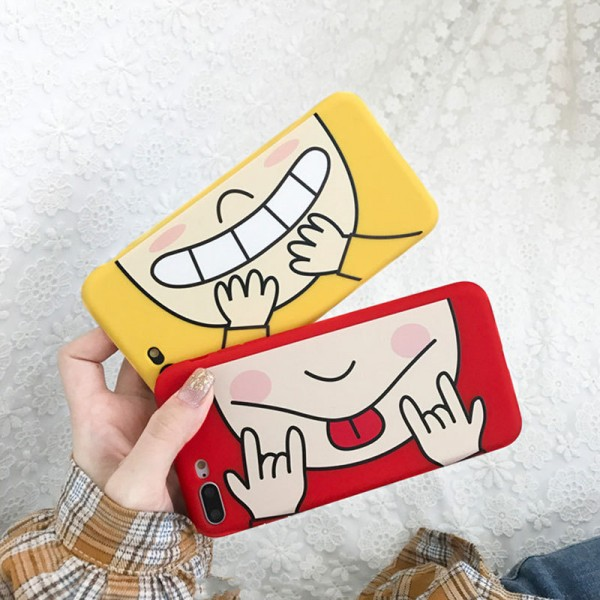 Cute Funny Expression Couple's iPhone Cases In TPU