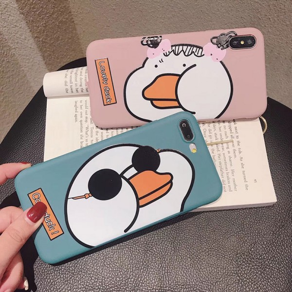 Cool And Lovely Duck iPhone Cases For Couples In TPU