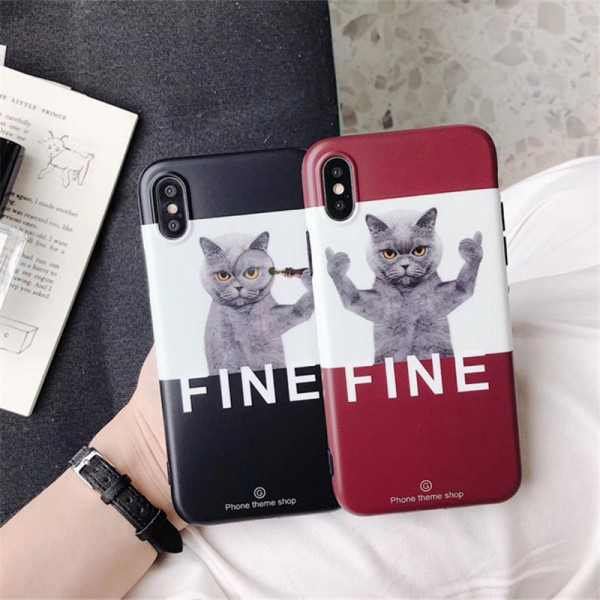 Cool Cat iPhone Cases For Couples In TPU