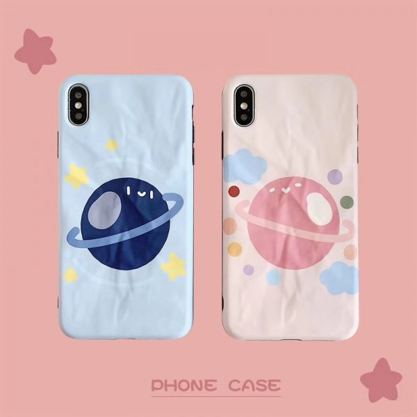 Cute Couple Planet iPhone Cases In TPU