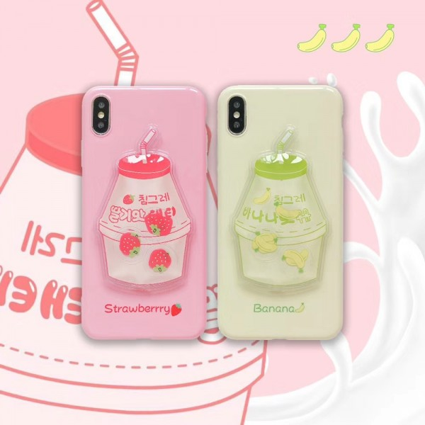 Cute Couple Yogurt iPhone Cases In TPU