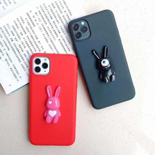 Cool Red And Black Rabbit iPhone Cases In TPU