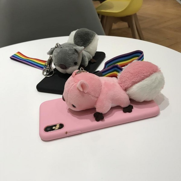 Cute Squirrel iPhone Cases For Couples In TPU