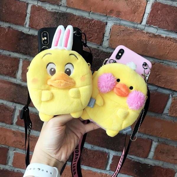 Couple's iPhone Cases With Little Yellow Duck Wallet In TPU