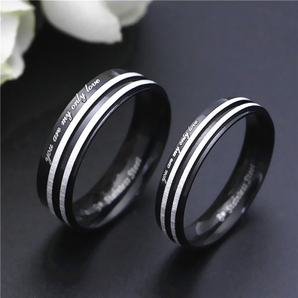 You Are My Only Love Promise Rings For Couples In Stainless Steel