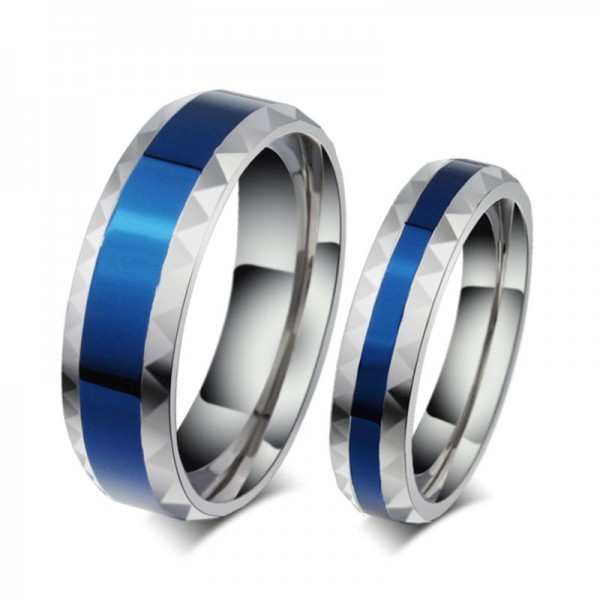 Engravable Simple Titanium Couple Rings For Him And Her