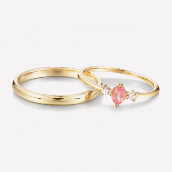 9k Gold Anniversary Ring Ruby Promise Ring For Couples