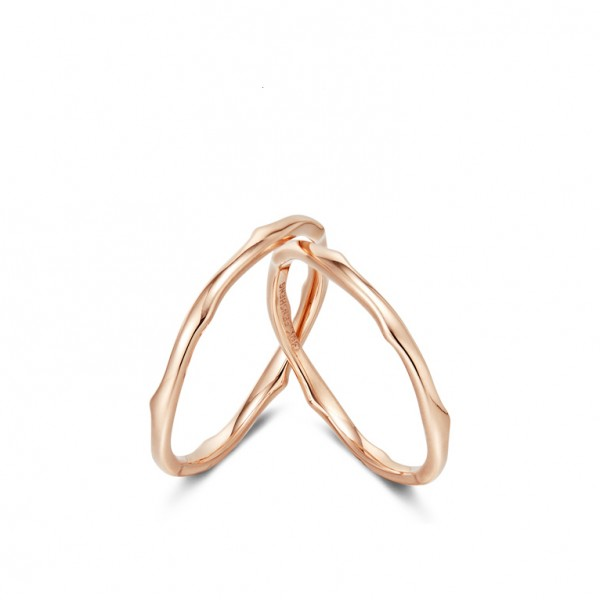 9k Rose Gold Thorns Anniversary Ring For Couples Cheap Wedding Ring