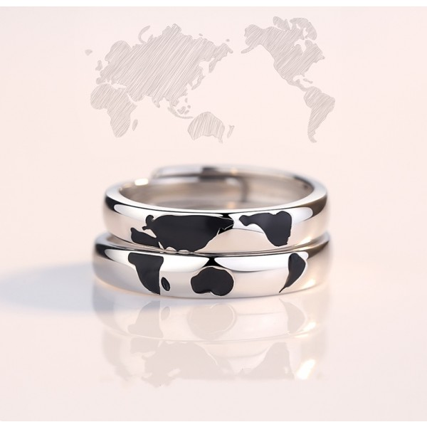 Engravable Northern And Southern Hemisphere Matching Promise Ring For Couples