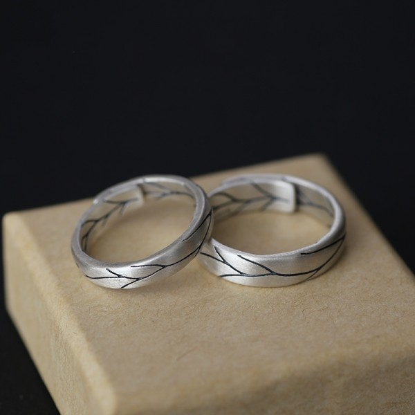Personalized Unforgettable Love Promise Rings For Couples In Sterling Silver