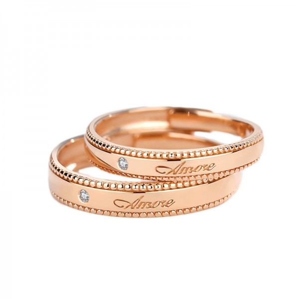 Adjustable Amore Promise Rings For Couples In Sterling Silver